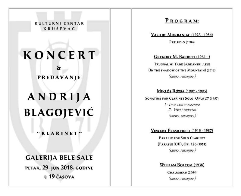 Andrija Blagojevic program 1